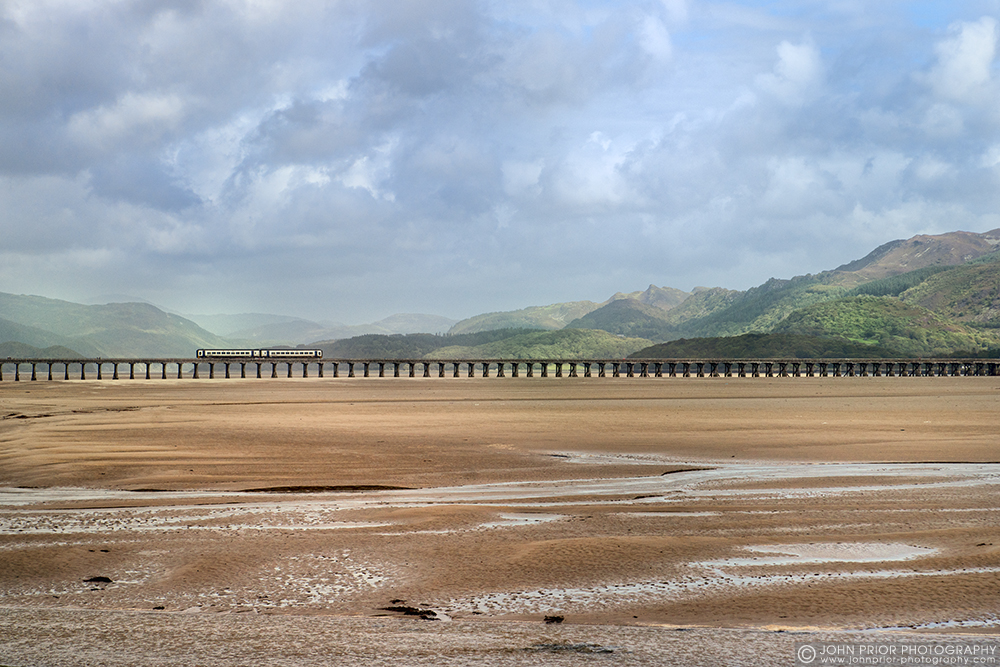 photoblog image Crossing the Mawddach estuary at low tide