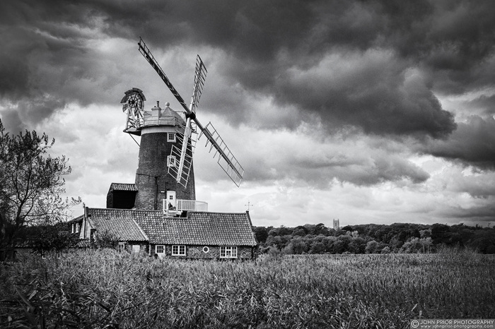 Windmill and reeds