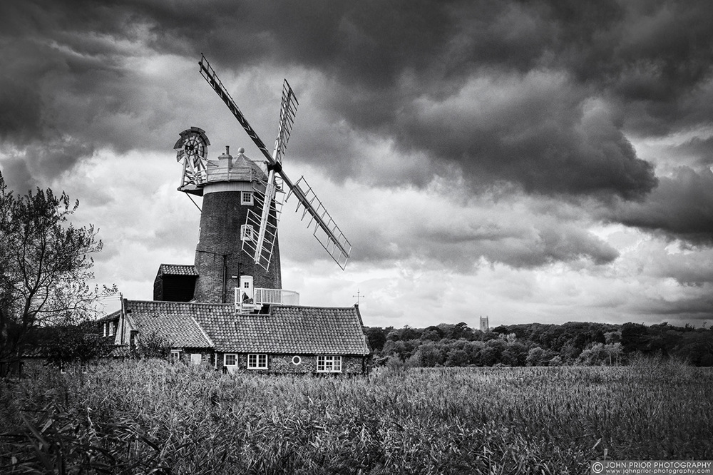 photoblog image Windmill and reeds
